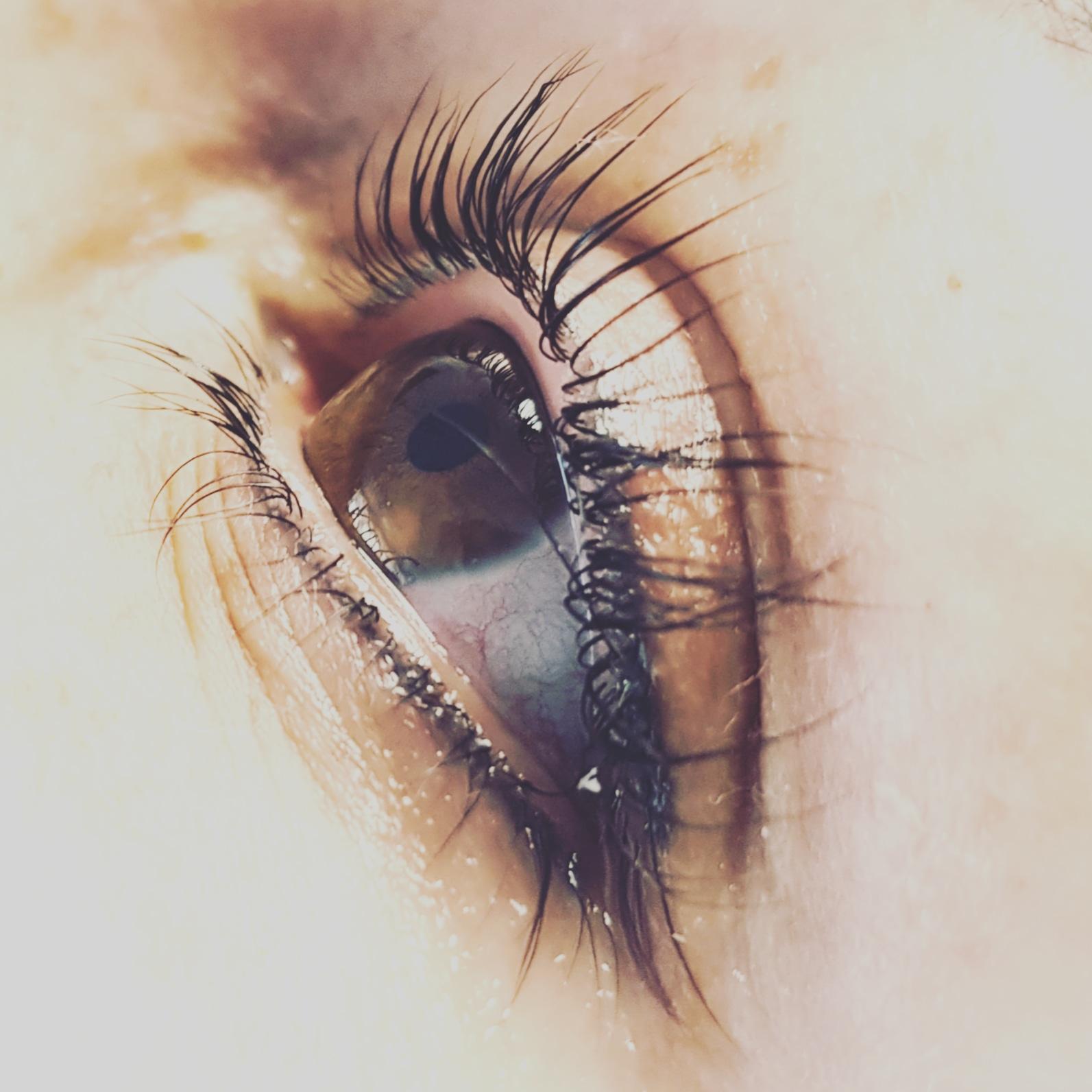Ein Auge, zeigt das Wimpernliftig und Lidstrich